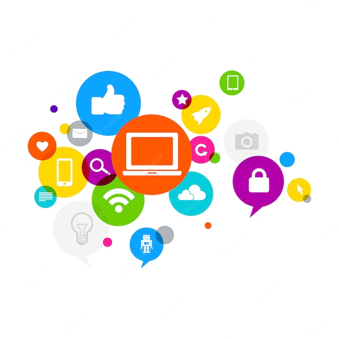 Ilustración del concepto de redes sociales