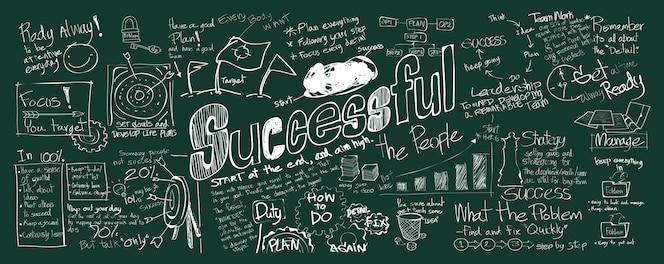 Ilustración del concepto exitoso