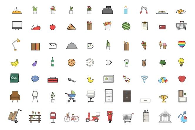 Ilustración del conjunto de vectores de cosas diarias
