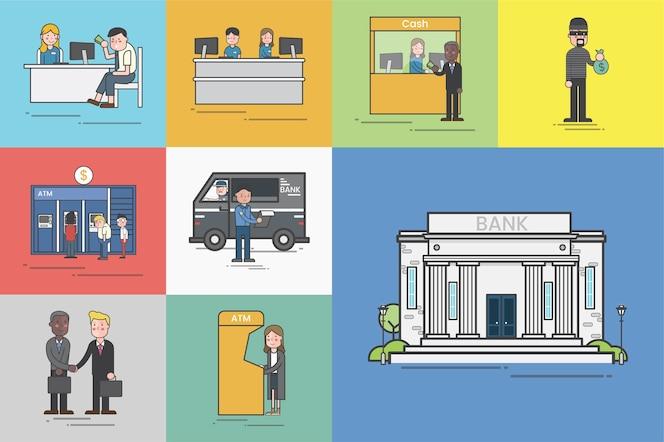 Ilustración del conjunto de vectores de finanzas