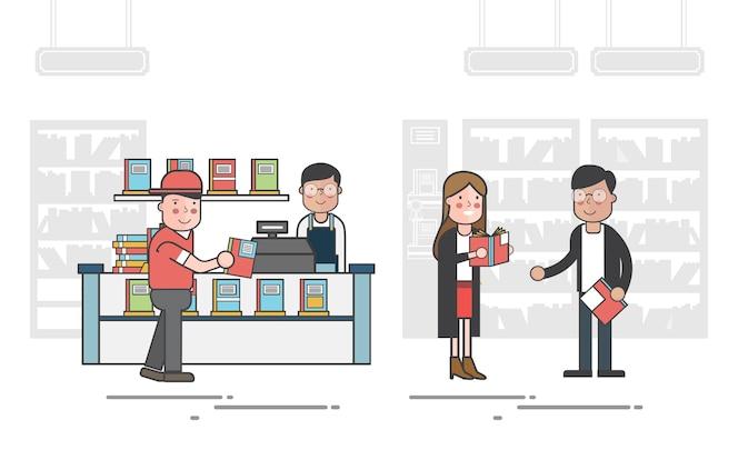 Ilustración del conjunto de vectores de la biblioteca
