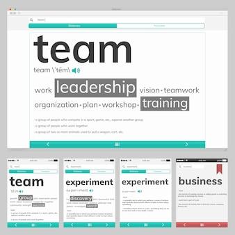 Ilustración del diseño web