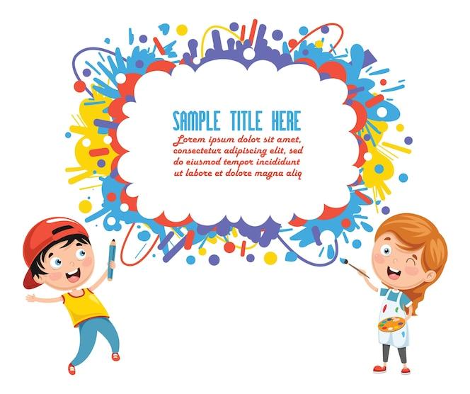 Ilustración del fondo de los niños