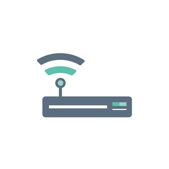Ilustración del icono del enrutador wifi