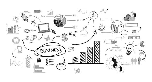 Ilustración del negocio de inicio