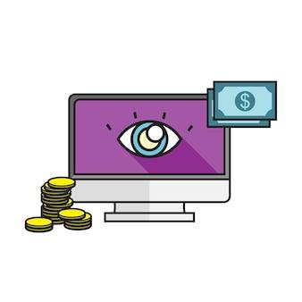 Ilustración del pago en línea