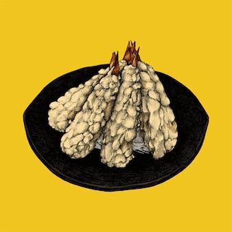 Ilustración del plato de leguminosas japonés