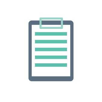 Ilustración del portapapeles de papel
