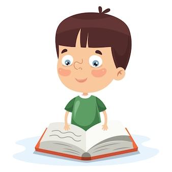 Ilustración del vector de la escritura del niño