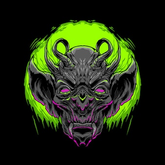La ilustración del demonio negro