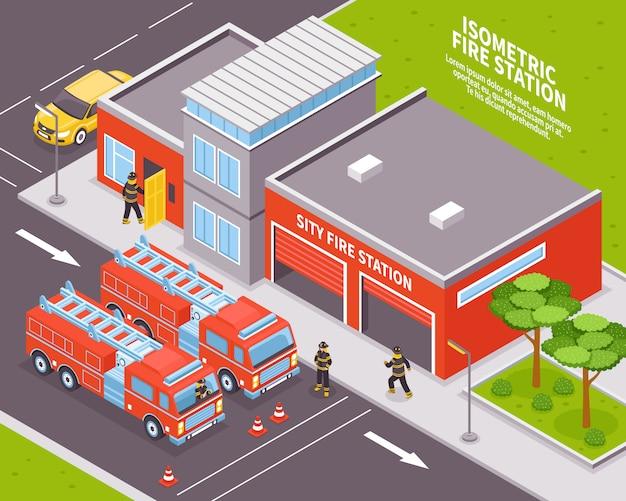 Ilustración del departamento de bomberos