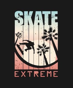 Ilustración de deporte extremo de skate