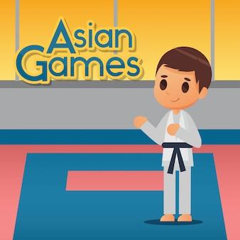 Ilustración de deporte de karate