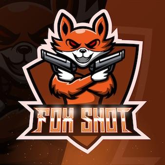 Ilustración de deporte de mascota de disparo de zorro
