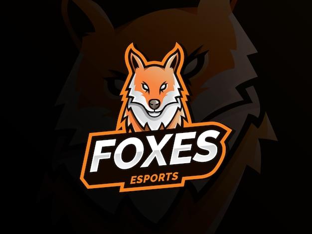Ilustración de deporte de mascota de logo de fox
