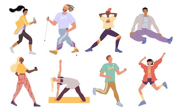 Ilustración deportes activos jóvenes