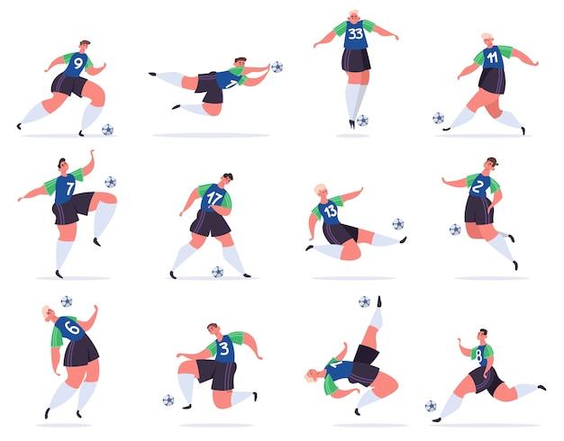 Ilustración de deportistas profesionales de fútbol