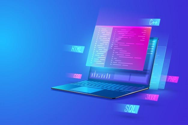 Ilustración de desarrollo de software