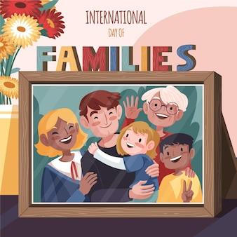 Ilustración detallada del día internacional de las familias.