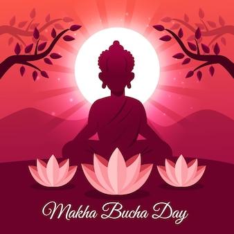 Ilustración detallada del día de makha bucha
