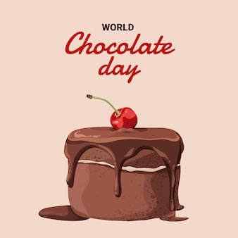 Ilustración detallada del día mundial del chocolate
