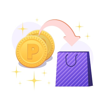Ilustración detallada de intercambio de puntos