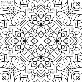 Ilustración detallada de mandala decorativa