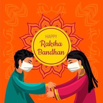 Ilustración detallada de raksha bandhan