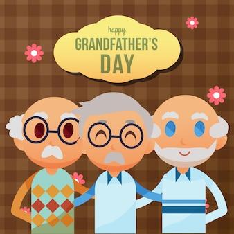 Ilustración del día de los abuelos