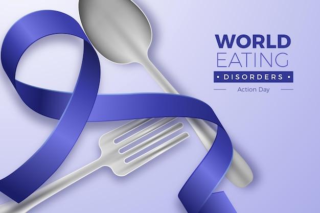 Ilustración del día de acción de los trastornos alimentarios del mundo realista