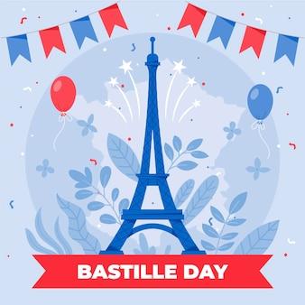Ilustración del día de la bastilla