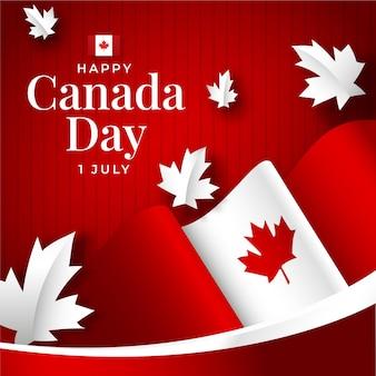 Ilustración del día de canadá degradado