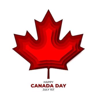 Ilustración del día de canadá en estilo papel