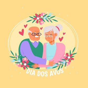 Ilustración de dia dos avos