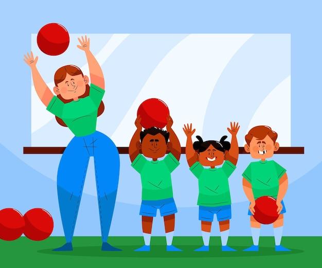 Ilustración del día de la educación física