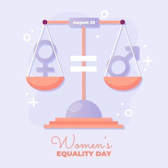 Ilustración del día de la igualdad de la mujer degradada
