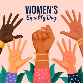 Ilustración del día de la igualdad de la mujer plana