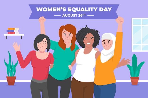 Ilustración del día de la igualdad de la mujer