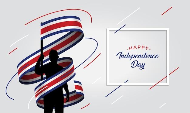 Ilustración del día de la independencia de costa rica