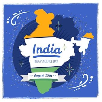 Ilustración del día de la independencia de la india