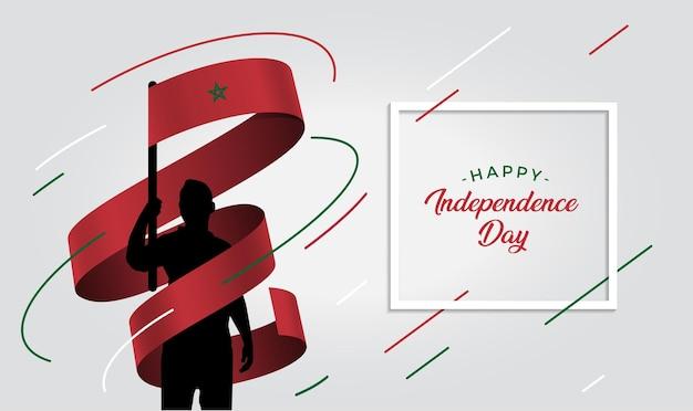 Ilustración del día de la independencia de marruecos