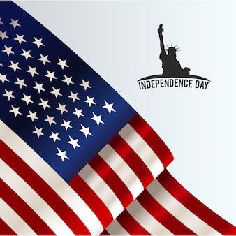Ilustración para el día de la independencia