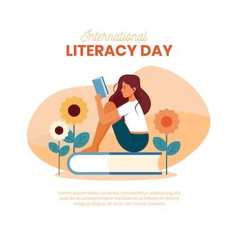 Ilustración del día internacional de la alfabetización
