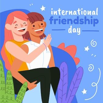 Ilustración del día internacional de la amistad