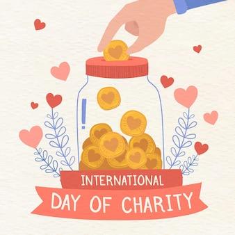 Ilustración del día internacional de la caridad