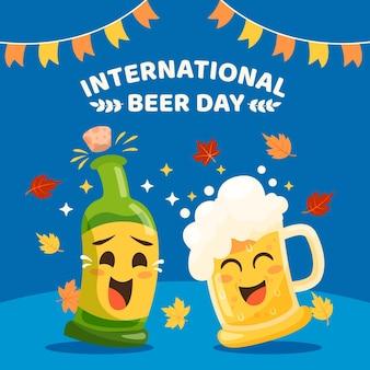 Ilustración del día internacional de la cerveza