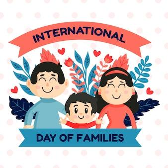 Ilustración con el día internacional del concepto de familia