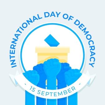 Ilustración del día internacional de la democracia