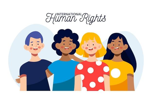 Ilustración del día internacional de los derechos humanos