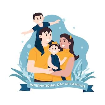 Ilustración del día internacional de las familias
